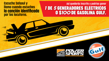 Prende y arranca con Power Sports y Gasolina Gulf